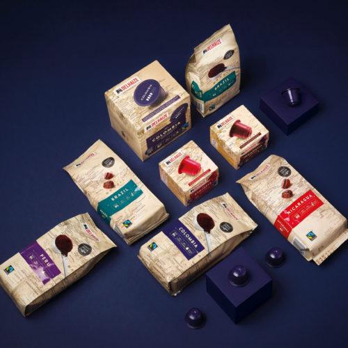 Emballage café pour Delhaize par DesignRepublic Bruxelles - Delhaize coffee packaging design