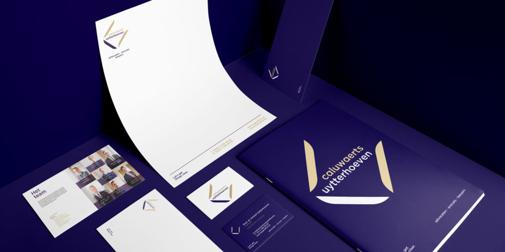 CALUWAERTS UYTTERHOEVEN Lawyers Let's get things clear / Corporate identity & baseline creation by DesignRepublic Belgium