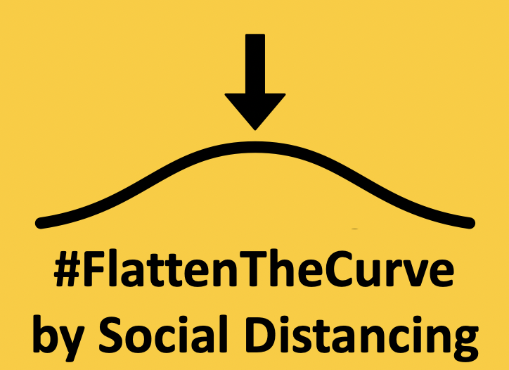 #FlattenTheCurve by Social Distancing to fight the Corona Virus